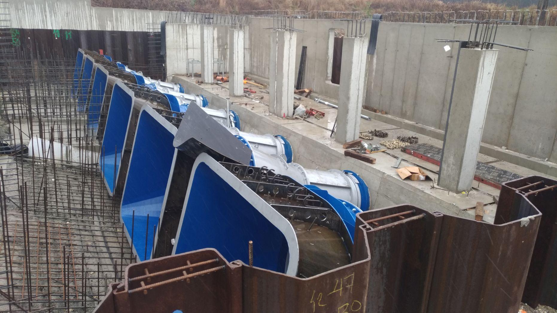 Поставка всасывающих труб и впускных отверстий для Малой ГЭС Глембоцко, Польша