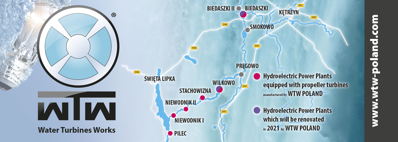 Modernizacja elektrowni wodnych Biedaszki oraz Wilkowo na rzece Dajnie, Polska